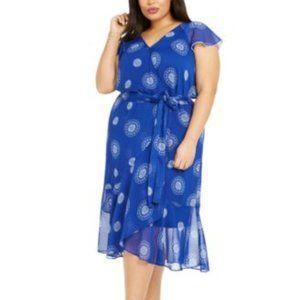 Tommy Hilfiger Plus Size Daisy Chiffon Dress 14W